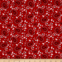 QT Fabrics Patchwork Farms Paisley Bandana Red