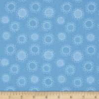 QT Fabrics Patchwork Farms Sunflower Linework Blue