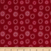 Patchwork Farms Sunflower Linework Red