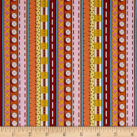 QT Fabrics Patchwork Farms Decorative Stripe Red