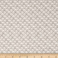 QT Fabrics Winter Garden Scalloped Geo Natural