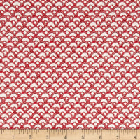 Winter Garden Scalloped Geo Red