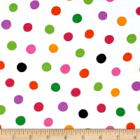 QT Fabrics Brooke Dots White/Multi