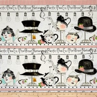 "QT Fabrics Hatters Tea Party Hatters Tea 10 1/2"" Stripe Multi"