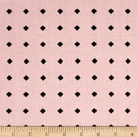 QT Fabrics Hatters Tea Party Diamond Dot Pink