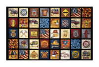 "QT Fabrics Treasures 5 Alarm Everything Firefighter 24"" Panel Black"
