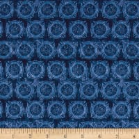 Quilting Treasures 5 Alarm FD Shields Tonal Blue