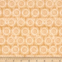 Quilting Treasures 5 Alarm FD Shields Tonal Dk. Cream