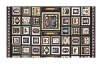 "QT Fabrics Home Sweet Home Home Sweet Home Small Patch 19"" Panel Black"