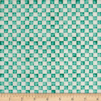 QT Fabrics Home Sweet Home Check Dark Aqua