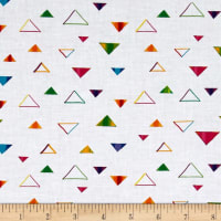 QT Fabrics Party Animals Triangles White
