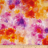 Quilting Treasures Soiree Watercolor Floral Multi