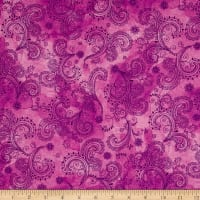 Quilting Treasures Soiree Paisley Pink