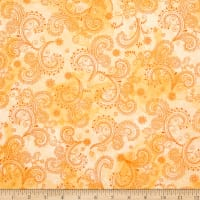 QT Fabrics Soiree Paisley Pale Yellow