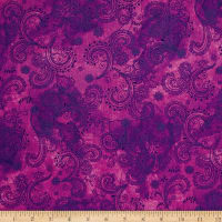 QT Fabrics Soiree Paisley Purple