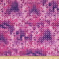 Quilting Treasures Soiree Diamond Geometric Pink