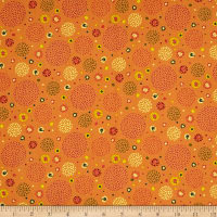 Ink & Arrow Ashtyn Dotted Circles Orange