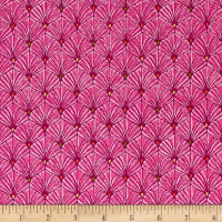 Ink & Arrow Ashtyn Fan Scallops Fuchsia