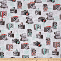 Ink & Arrow Say Cheese Vintage Cameras White