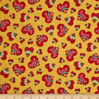 Quilting Treasures Love Grows Here Love Hearts Honey