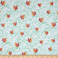 Quilting Treasures Love Grows Here Birds Green