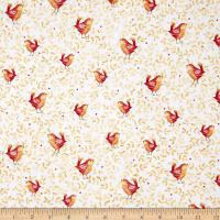 Quilting Treasures Love Grows Here Birds Honey