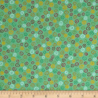 Quilting Treasures Love Grows Here Circle Geo Green