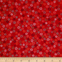 QT Fabrics Love Grows Here Circle Geo Red
