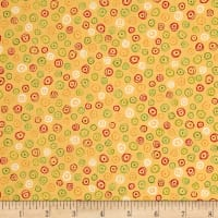 QT Fabrics Love Grows Here Circle Geo Med. Honey