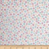 Quilting Treasures Love Grows Here Circle Geo White