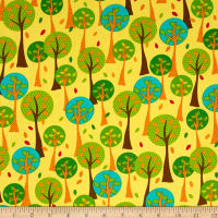 Quilting Treasures On The Road Trees Yellow