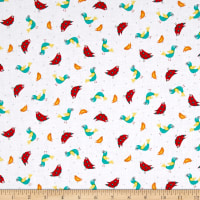 QT Fabrics On The Road Birds White
