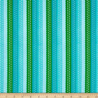 QT Fabrics On The Road Ribbon Stripe Blue