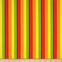Quilting Treasures On The Road Ribbon Stripe Tomato