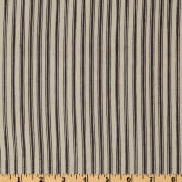 "30 Yard Bolt 32"" Down-Proof Ticking Stripe Blue/Cream"
