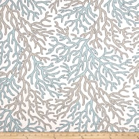 Scott Living Coral Reef Basketweave Harbor Luxe Linen