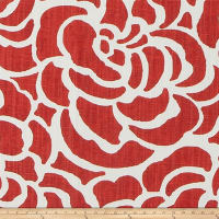 Scott Living Peony Basketweave Vermillion Luxe Linen