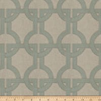 Fabricut Gaffer Lattice Linen Blend Patina