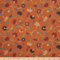 Collier Campbell Jacobean Jangle Linen Cinnamon