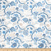 Fabricut Notorious Paisley Indian Sea
