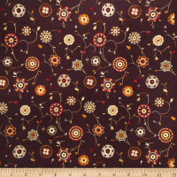 Collier Campbell Suzani Embroidery Linen Blend Cinnamon