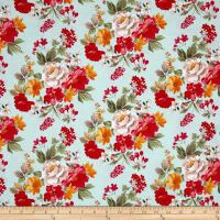 Penny Rose Farmhouse Floral Main Blue