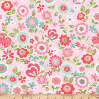Riley Blake Butterflies & Berries Main Butterflies Pink