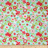 Riley Blake Butterflies & Berries Main Butterflies Mint