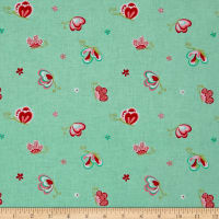 Riley Blake Butterflies & Berries Toss Butterflies Mint