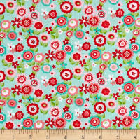 Riley Blake Butterflies & Berries Floral Butterflies Mint
