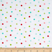 Riley Blake Butterflies & Berries Butterflies Polka Dot White