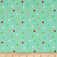 Riley Blake Butterflies & Berries Polka Dot Butterflies Mint