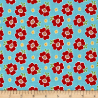 Riley Blake Bake Sale 2 Floral Aqua