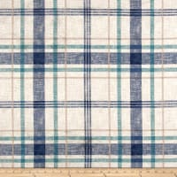 Richloom Lawson Velvet Plaid Wave